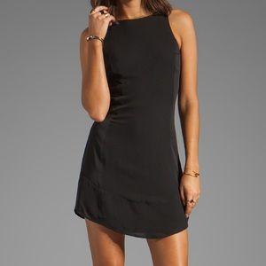 New Theory Oloza Black Silk Dress
